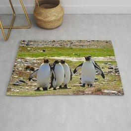 Marching King Penguins Rug