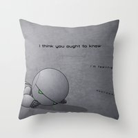 android Throw Pillows featuring Android Down by Cory Hughart