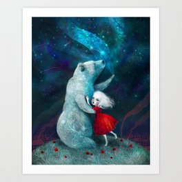 Star Bear Watched Over Her Art Print