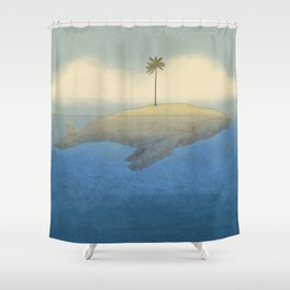 Peaceful Humpback Shower Curtain