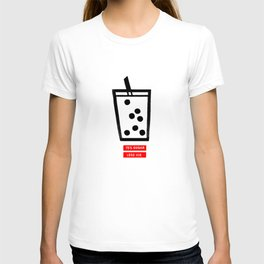 Boba milk tea, 75% sugar and less ice please T-shirt