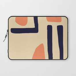 Coral and Blue Laptop Sleeve