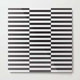 IKEA STOCKHOLM Rug Pattern - black stripe black Metal Print