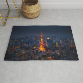Japan - 'Tokyo Tower Night' Rug