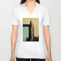 ben giles V-neck T-shirts featuring Big Ben by sinonelineman