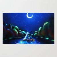 aladdin Area & Throw Rugs featuring Starry Night Aladdin by ThreeBoys