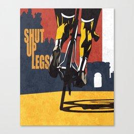 Retro Tour de France Cycling Illustration Poster: Shut Up Legs Canvas Print