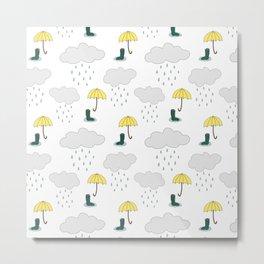 Rainy Day Pattern Metal Print