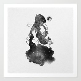 The feeling you gave me. Art Print