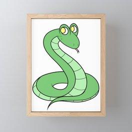 Sneeky Snek Framed Mini Art Print
