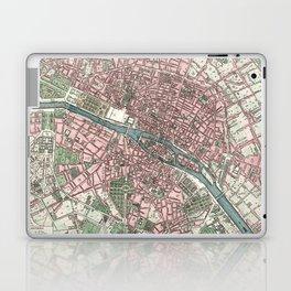 Vintage Map of Paris France (1821) Laptop & iPad Skin
