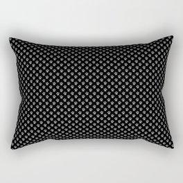 Tiny Paw Prints Grey on Black Pattern Rectangular Pillow