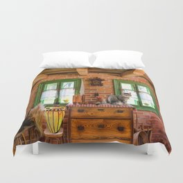 Rustic Country Charm by Liane Wright Duvet Cover