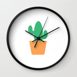 Just a Little Cactus Wall Clock