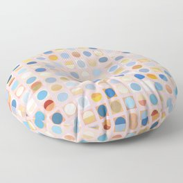 Circles and Squares 2 Floor Pillow
