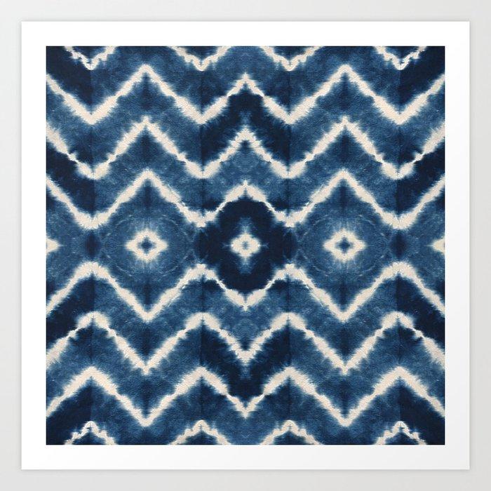 Shibori, tie dye, chevron print Kunstdrucke