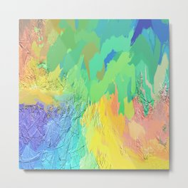 406 - Abstract Colour Design Metal Print