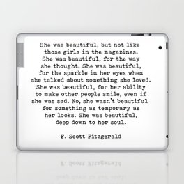 She Was Beautiful, F. Scott Fitzgerald, Quote Laptop & iPad Skin