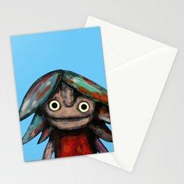 Girl vith teddy bear Stationery Cards