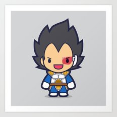 FunSized Vegeta Art Print
