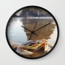 Mr.Crab at Haystack Rock #2 Wall Clock