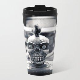 Gritty skull Metal Travel Mug