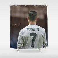 ronaldo Shower Curtains featuring CR7 no7 by Cr7izbest