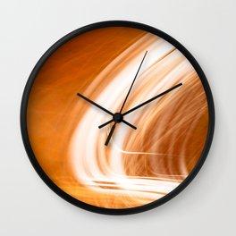 Abstract Light Streaks Wall Clock