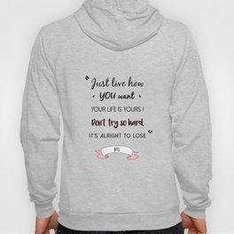 BTS Quote Hoody
