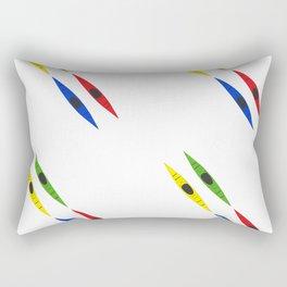 Colorful Kayaks Rectangular Pillow