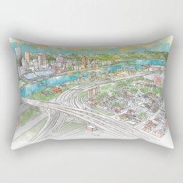 Pittsburgh Aerial Rectangular Pillow