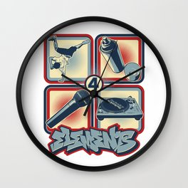Four Elements of Hip Hop Wall Clock