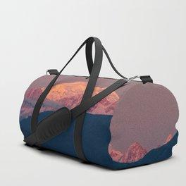 Sunset on Mount Baker Duffle Bag