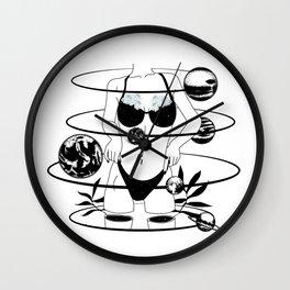 Space body flower solar system Wall Clock