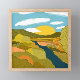 River Framed Mini Art Print