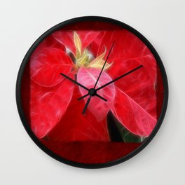 Mottled Red Poinsettia 2 Blank P5F0 Wall Clock