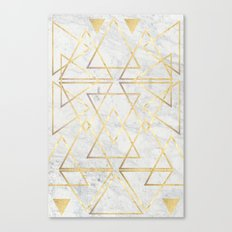 wire gOld triangle Canvas Print