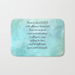 Proverbs 3:5-6, Encouraging Bible Quote Bath Mat