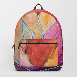 Lotus Dreaming in Colour and Dots Backpack