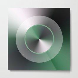 Serene Simple Hub Cap in Green Metal Print