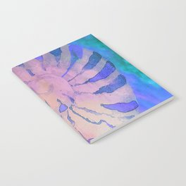 NAUTILUS SEA SHELL BLUE AND PURPLE IMPRESSIONS Notebook