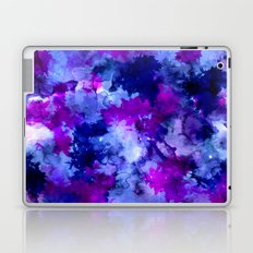 Modern blue purple watercolor brushstrokes paint Laptop & iPad Skin