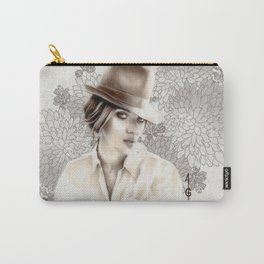 Scarlett Johansson  (black and white FANART ) Carry-All Pouch