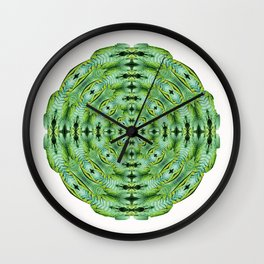 288 - Abstract Fern Orb Wall Clock