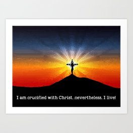 Crucified with Christ Art Print