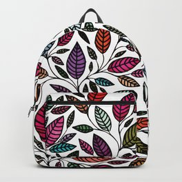Floral Leaf Illustration *P07 002 Backpack