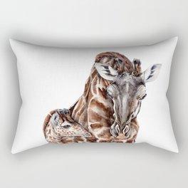Giraffe with Baby Giraffe Rectangular Pillow