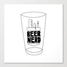 Beer Nerd Canvas Print