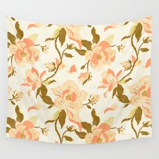 Magnolia Pattern Wall Tapestry