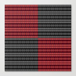 Presence of Anger in Red, Black, and Grey Canvas Print